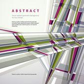 モダンなスタイルの図、抽象的な幾何学的な背景をベクトルします。. — ストックベクタ