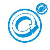 Reload refresh arrows loop vector simple single color icon isola — Stock Vector