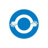 Zwei Hände abstrakten Symbol Vektor. — Stockvektor