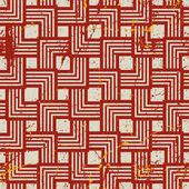 Vintage style geometric seamless background, retro vector repeat — Stock Vector