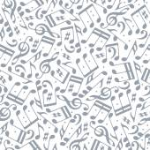 Musical notes seamless pattern. — Stock Vector