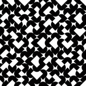 Black and white geometric abstract seamless pattern, vector cont — Vettoriale Stock
