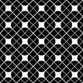 Black and white geometric abstract seamless pattern, vector cont — Stock Vector