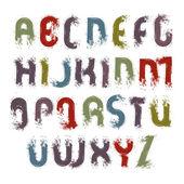 Vector acrylic alphabet capital letters set, hand-drawn colorful — Stock Vector