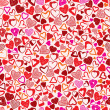 Valentine background, different hearts seamless pattern. — Stock Vector #55170891