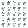 Shopping cart icons isolated on white background vector set, sup — Stock Vector #55170977
