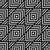 Seamless black and white geometric pattern, simple vector stripe — Stock Vector