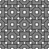 Seamless geometric pattern, black and white simple vector backgr — Stock Vector