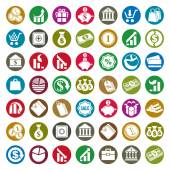 Money icons isolated on white background vector set, finance the — Vecteur
