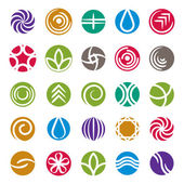 Abstract icon set, vector symbols collection. — Stockvektor