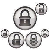 Lock icons set. — Stock Vector
