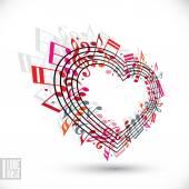 I love music concept. — Stock Vector