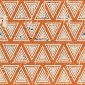 Vintage geometric seamless pattern, old vector repeat background — Stock Vector