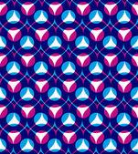 Padrão sem emenda de vetor colorido com gotas de vermelhas e azuis, bri — Vetor de Stock
