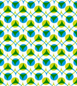 Colorful vector seamless pattern with green and blue dots, summe — Stock Vector