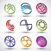 Abstract icons of different shapes vector set 2. — Vecteur