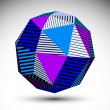 Symmetric spherical 3D vector technology illustration, saturated — Stock Vector #55763189