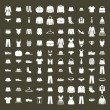 Clothes icon vector set, vector collection of fashion signs and symbols. — Stock Vector #55763425