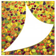 Fruits abstract composition, different fruits icon set, vector f — Stock Vector #55763779