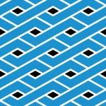Modern zigzag bright geometric seamless pattern. Rhombus graphic — Stock Vector #55763917