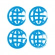 Set of hand-painted earth globe icons isolated on white backgrou — Stock Vector #55769171