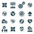 Gear system power development and progress theme unusual icons s — Stock Vector #55769177