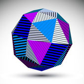 Symmetric spherical 3D vector technology illustration, saturated — Stock Vector