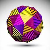 Bright symmetric spherical 3D vector technology illustration, co — Stock Vector