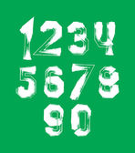 Creative handwritten over color numbers set from 0 to 10, vector — 图库矢量图片