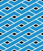 Modern zigzag bright geometric seamless pattern. Rhombus graphic — Stock Vector