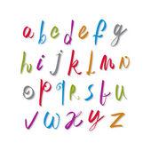 Script handwritten font vector, vector alphabet letters. — Vecteur