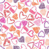 Hears seamless pattern, love valentine and wedding theme seamles — Stock Vector