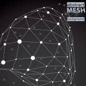 Modern digital technology style, abstract unusual background, ve — Cтоковый вектор