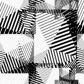 Black and white abstract lines seamless pattern. Vector psychede — 图库矢量图片