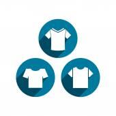 Man t-shirt vector icon set. — Stock Vector