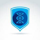 Health and science defending conceptual symbol, vector icon with — Stockvektor