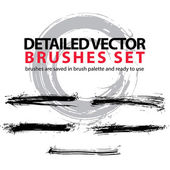 Set of highly detailed vector torn brush strokes, illustrator st — Stock Vector