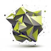 Cybernetic asymmetric stylish construction, light green abstract — Stock Vector