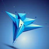 Blue contemporary technological asymmetric construction, colorfu — Stock Vector