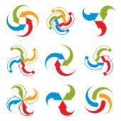 Abstract arrows vector symbols, vector graphic design template c — Stock Vector