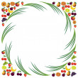 Fruits abstract composition, different fruits icon set, vector f — Stock Vector #55770793