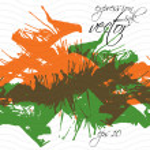 Colorful watercolor graffiti splash overlay elements, expressive — Stock Vector #55774527