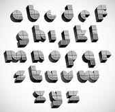 3d futuristické písmo s boxy. — Stock vektor