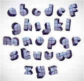 3d futuristické kolo font se s bloky. — Stock vektor