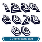 3d retro numbers in rotation, stylish vector numeration design.  — Stock Vector