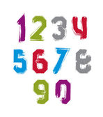 Freak colorful graffiti digits, set of vector unusual numbers dr — Stock Vector