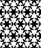 Black and white symmetric textured geometric seamless pattern. V — Stock Vector
