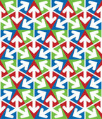 Světlé mimořádné geometrický vzor bezešvé s trojúhelníky — Stock vektor