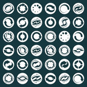 Reload icons vector set, loop arrows, refresh,  web theme simpli — Stock Vector