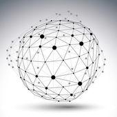 Vector digital 3d abstraction, lattice geometric polygonal objec — Stock Vector